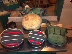 I have always used round canteens, but I'm going to try a mil surplus collapsible (right)