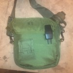 Carry bag with pocket for purification tablets