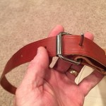 Heavy leather hanger and roller buckle