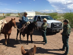 Joel Tanner and Cody Winn, USBP Agents at Boss Ranch Road